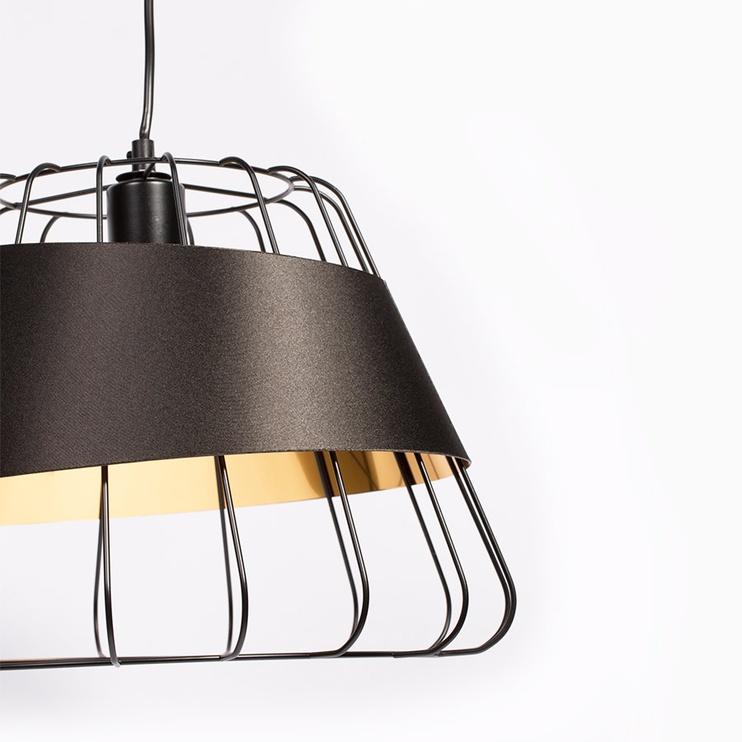Gaismeklis Domoletti Monica MD52615-1L Ceiling Lamp 40W E27 Black/Gold