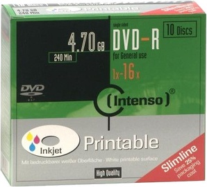 Intenso DVD-R 16x 4.7GB 10pcs. Slim Case 4801652
