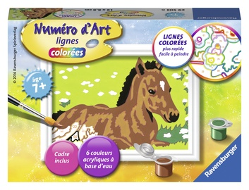 Ravensburger Painting By Numbers Horse 295036