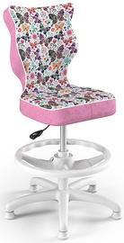 Entelo Petit Black HC+F Size 4 Children Chair ST31 White/Butterflies