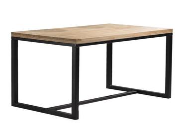 Pusdienu galds Signal Meble Loft Loras, melna/ozola, 1800x900x750mm