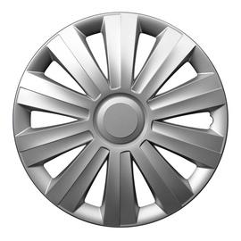 Dekoratīva uzlika auto diskiem Autoserio Snake sudraba krāsā, radiuss 16 collas, iepakojumā 4 gab.