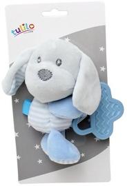 Košļājamās lietas Axiom New Baby Plush Toy With Teether Dog Blue 16cm