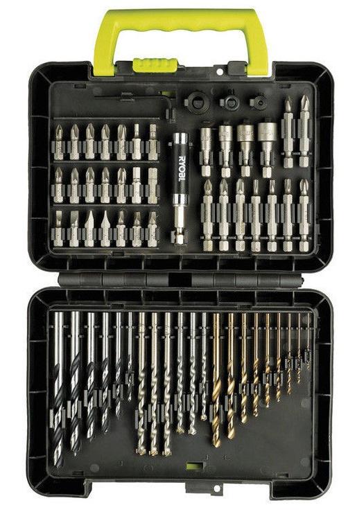 Komplekts Ryobi Screwdriver and Drill Kit 60pcs