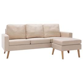 Dīvāns VLX Fabric 3-Seater 288726, krēmkrāsa, labais, 184 x 130 x 82.5 cm