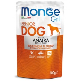 Влажный корм для собак Monge Grill Pouch Senior Duck, 0.100 кг
