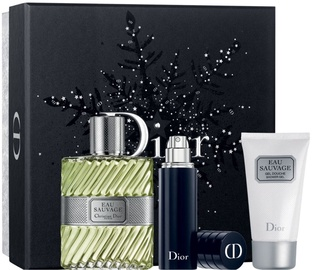 Christian Dior Eau Sauvage 100ml EDT + 50ml Shower Gel + 10ml Refillable Spray