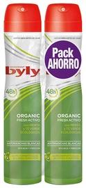 Dezodorants sievietēm Byly Organic Extra Fresh, 2x200 ml