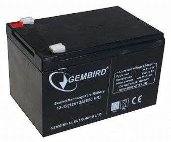 Gembird Rechargeable Battery 12V 12AH for UPS
