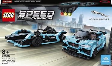 Konstruktors LEGO Speed Champions Formula E Panasonic Jaguar Racing GEN2 Car & Jaguar I-Pace eTrophy 76898, 565 gab.