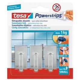Tesa Self Adhesive Hooks Small Classic Chrome 3pcs