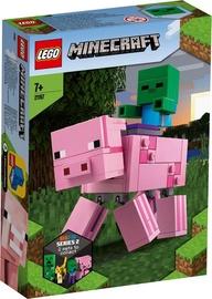 Konstruktors Lego Minecraft BigFig Pig With Baby Zombie 21157