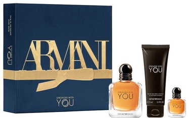 Vīriešu smaržu komplekts Giorgio Armani Emporio Armani Stronger With You 3pcs Set 132 ml EDT