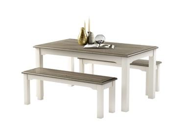 Ēdamistabas komplekts MN Dorset White/Grey
