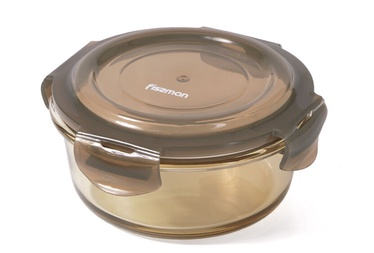 Fissman Container With Lid 13x13x5cm 520ml Brown