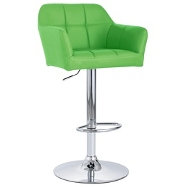Барный стул VLX Faux Leather 249759, зеленый