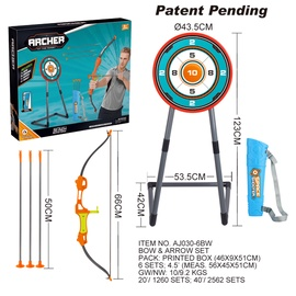 Sporta rotaļlieta Ao Jie Bow&Arrow Set, 6 gab.