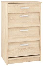 Шкаф для обуви ML Meble ML 05 Sonoma Oak, 500x400x830 мм