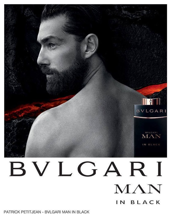 Bvlgari Man In Black 100ml EDP + 100ml Aftershave Balm + Green Cosmetic Bag