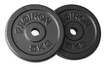 Disku svari ProIron Solid Cast Iron Weight Plates Set Black 2x5kg