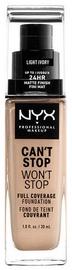 Tonizējošais krēms NYX Can't Stop Won't Stop CSWSF04 Light Ivory, 30 ml