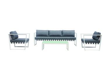 Āra mēbeļu komplekts Masterjero TG0343S, balts/pelēks, 1-5 sēdvietas