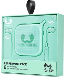 Austiņas Fresh 'n Rebel Vibe Bluetooth Rockbox Pebble Peppermint, bezvadu