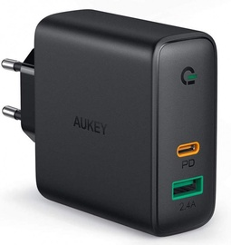 Aukey Focus USB/USB Type-C Wall Charger Black