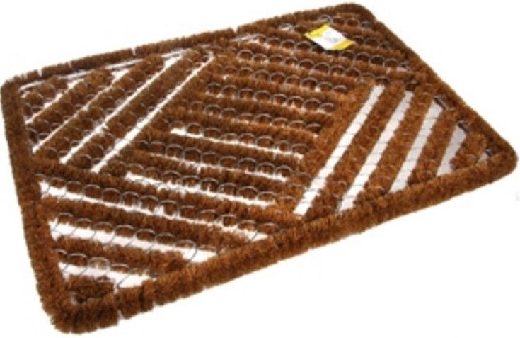 Придверный коврик Verners Island 827-192 Brown, 600x400 мм
