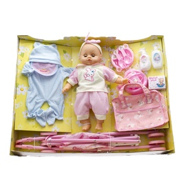 Lelle Lovley Toys Baby Carriage Set Assort