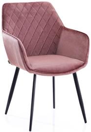 Ēdamistabas krēsls Homede Vialli Pink, 2 gab.