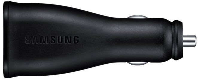 Samsung Dual USB Fast Charge Car Charger With USB Type-C Cable Black