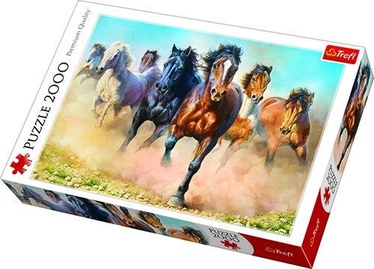 Puzle Trefl Galloping Herd Of Horses 27098, 2000 gab.