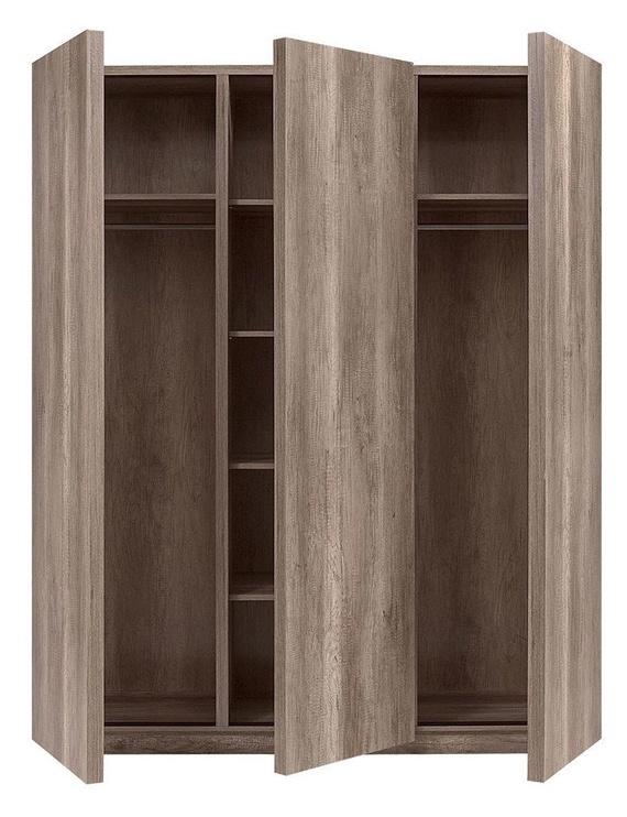 Skapis Black Red White Anticca 3D Monument Oak, 171.5x61.5x211.5 cm