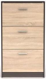 Шкаф для обуви Black Red White Nepo Plus Wenge/Sonoma Oak, 700x175x1200 мм