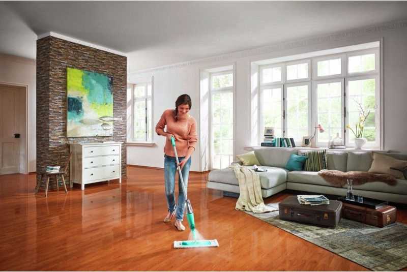 Leifheit Floor Brush With Sprinkler Care&Protect XL 42cm