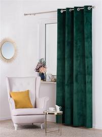 Nakts priekškars Domoletti Velvet, zaļa, 1400x2500 mm
