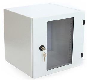 Assmann Wall Cabinet 10'' 4U/300mm Glass Grey