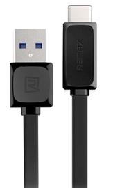 Remax Universal Silicone USB Type-C Cable Black 1m