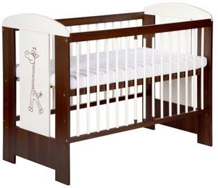 Bērnu gulta Klups Safari Giraffe Cream/Walnut, 124x66 cm
