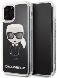 Karl Lagerfeld Iconic Glitter Back Case For Apple iPhone 11 Pro Black