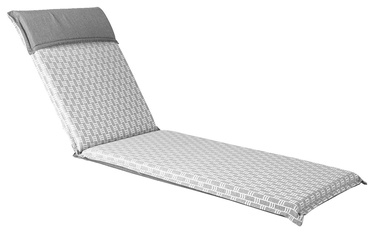 Home4you Florida Deck Chair Pad 60x200x7cm Grey