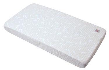 Čaumala Lodger Fitted Baby Sheet Slumber Print Ivory Hydrofiel 70x140