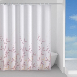 Gedy Flora Shower Curtains 180x200cm White Red