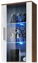 Шкаф-витрина ASM Neo II Plum/White, 60x29x110 см