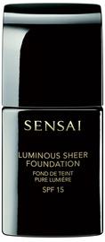 Tonizējošais krēms Sensai Luminous Sheer Foundation SPF15 Brown Beige, 30 ml