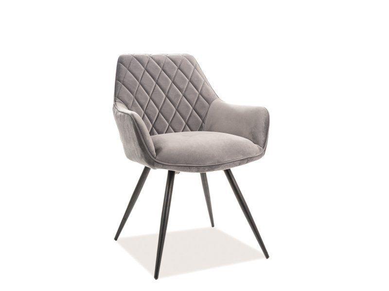 Ēdamistabas krēsls Signal Meble Linea Velvet, pelēka
