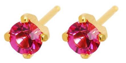 Caflon Fashion Sense Earrings 4mm Zirconium Pink
