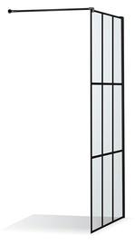 Стенка для душа Brasta Glass Ema Nero Cube, 1100 мм x 2000 мм