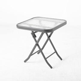 Dārza galds Home4you Dublin Black, 460 x 460 x 460 cm